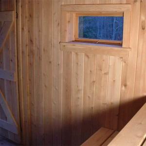Sauna room interior