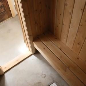Sauna floor detail